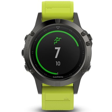 Garmin Fenix 5 Slate Gray with Amp Yellow Band Multisport GPS Watch (without HRM Strap)