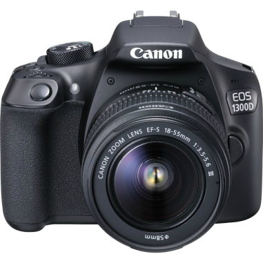 Canon EOS 1300D Kit with 18-55 III Lens Digital SLR Cameras - Black with LP-E10 battery