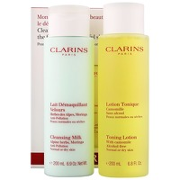 Clarins Sets Cleansing Milk 200ml and Toning Lotion 200ml Normal/Dry Skin