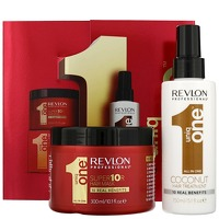 Revlon Professional Uniq One Coconut Coconut Hair Treatment 150ml and Conditioning Hair and Super 10R Hair Mask 300ml