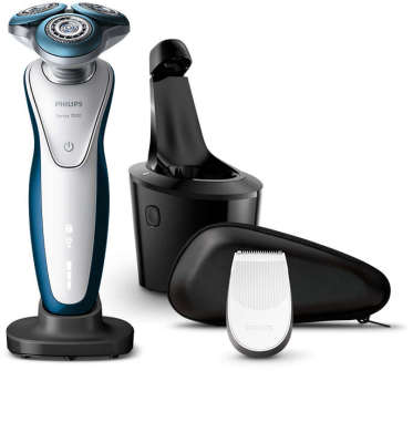 Philips Series 7000 Wet and Dry Men's Electric Shaver with Smart Clean Plus - S7521/26 -White/ Blue