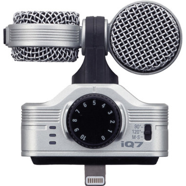 Zoom iQ7 Mid-Side Stereo Microphone for iOS Devices with Lightning Connector Recorder