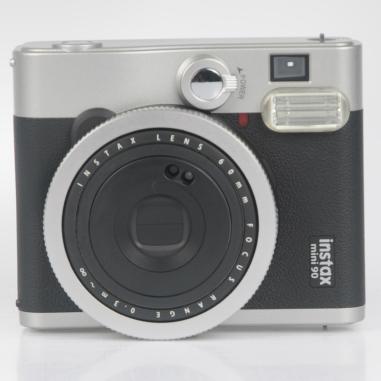 Fujifilm Instax mini 90 Neo Classic - Black with mini film Photo Paper 10 Packs