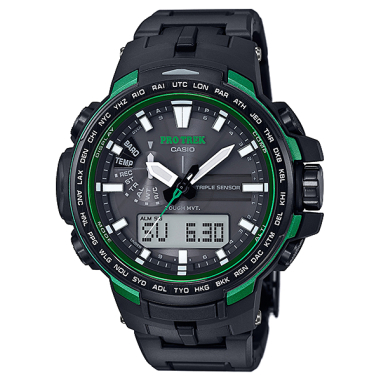 Casio PRO TREK Triple Sensor Version 3 TOUGH SOLAR Watch (PRW-6100FC-1) - Green