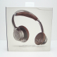 Back Beat Sense Wireless Headphones + Mic - Black/Brown