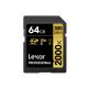 Lexar 2000X 64GB 300MB/s Professional U3 V90 UHS-II SDXC Memory Card with Card Reader