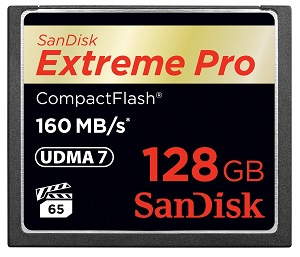 SanDisk 128GB 160MB/s Extreme Pro Compact Flash Memory Card Memory Card