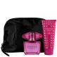 Versace Bright Crystal Absolu Eau de Parfum Spray 90ml, Perfumed Body Lotion 100ml + Free Cosmetic Bag