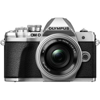 0lympus E-M10 Mark III OM-D Body with 14-42mm EZ lens Digital Cameras - Silver