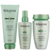 Kerastase Volumifique Trio Set: Bain Shampoo 250ml, Volume Expansion Spray 125ml and Gelee Volume 200ml