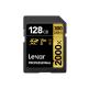 Lexar 2000X 128GB 300MB/s Professional U3 V90 UHS-II SDXC Memory Card with Card Reader