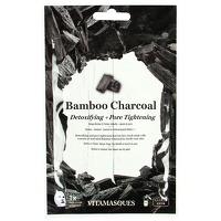 Vitamasques Sheet Face Mask Bamboo Charcoal x 4