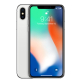 Apple iPhone X 64GB with 3D Curved Premium Tempered Glass Screen Protector (Black Edge) - Silver